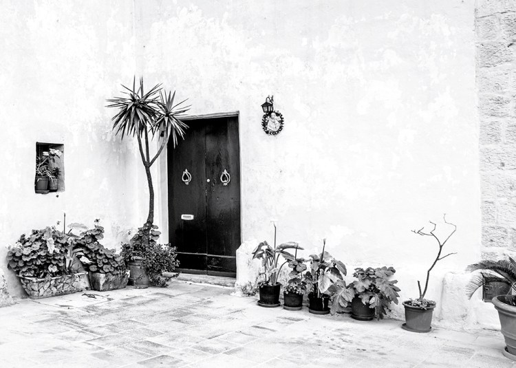 A Corner of the Piazza in Mdina Malta Silent City monochrome Black&white Challenge