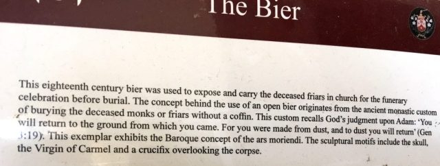 OddBall Mdina, Malta,Carmelite Priory: The Bier