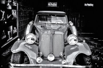 No Parking Beauford car iPhone iPhoneography monochrome black&white