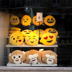 Emojis for Sale LISBON shop window Oddball challenge