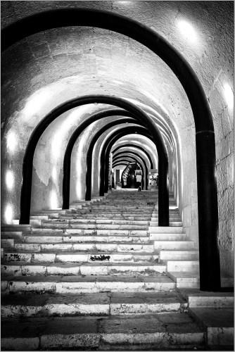 Knights Templars' Stairway monochrome
