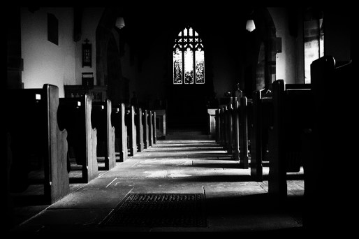 pews monochrome towards light