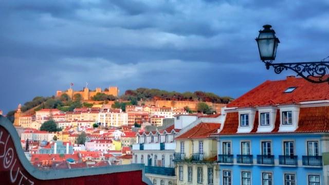 Lisbon, iphoneography, blue hour, castle,