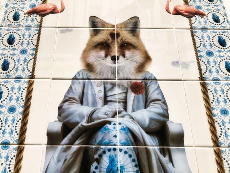 Fox Piglet shoes tiles Lisbon oddball
