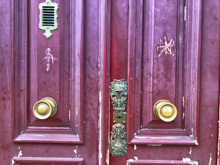 Red door furniture in Old Lisbon Street