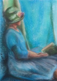 Chalk pastel life drawing