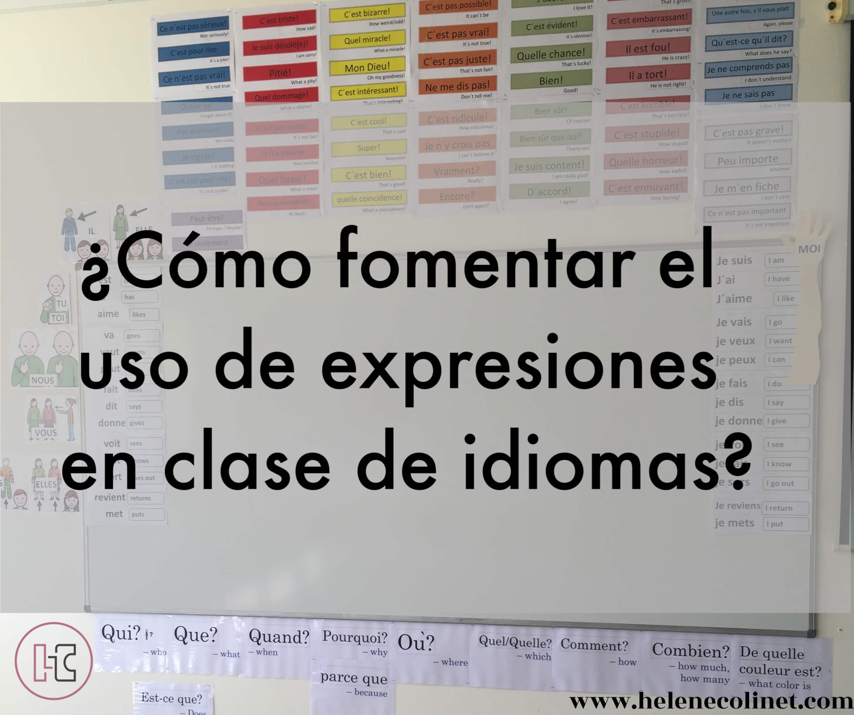 mural expresiones helene colinet recursos profesores idiomas tprs ci