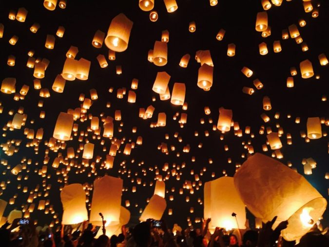 Yee Peng Lantern Festival Chiang Mai