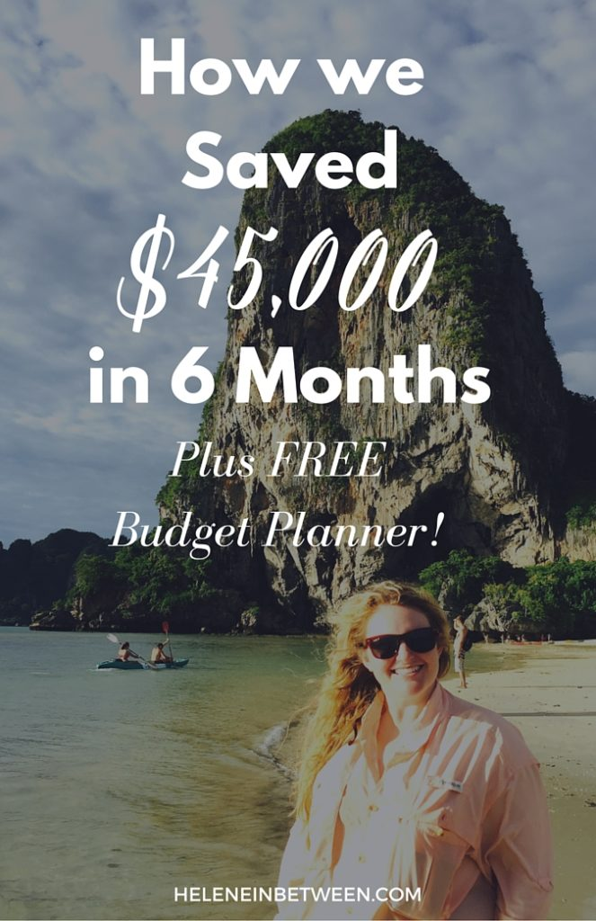 How We Saved $45,000 in Six Months plus FREE Budget Planner