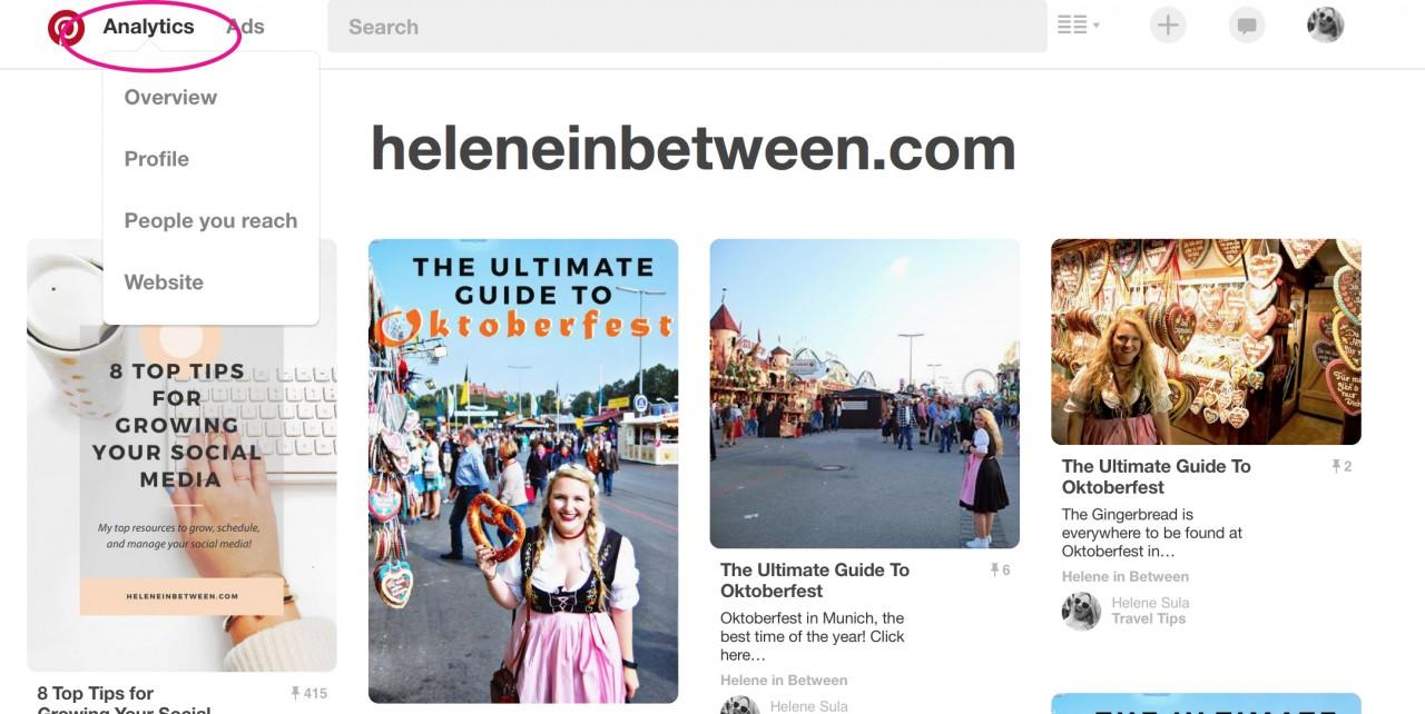 How to find Pinterest Analytics