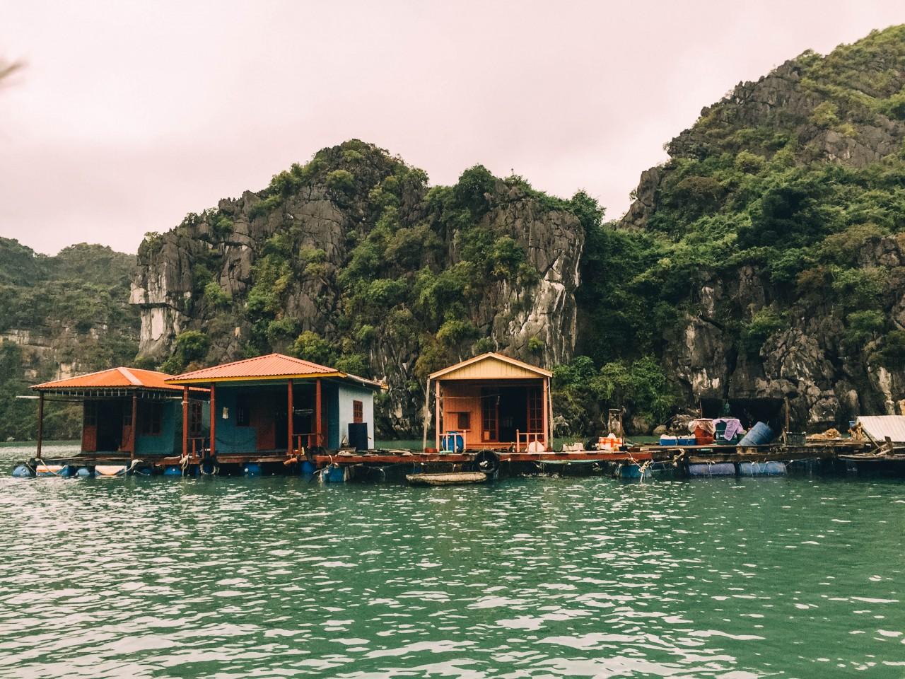 Vung Vieng fishing village in Halong Bay, Vietnam