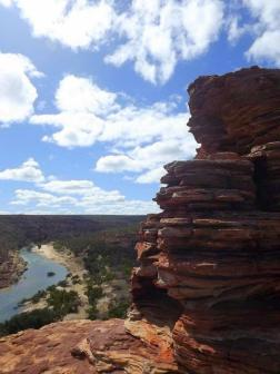 "Another snapshot from stunning Kalbarri - if you're ever travelling around the Western Aussie way, the gorges are spectacular. But clumsy people beware - I almost tripped and fell to my doom just after taking this photograph, so it has a special place in my heart as the ""almost-last-photograph-of-my-lifetime"". JUST THOUGHT YOU'D LIKE TO KNOW <3"