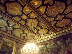 A bit blurry, but you can get a good idea of the intricacy of the work in this roof.