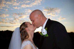 Couples enjoying inexpensive elopement packages in Helen, GA