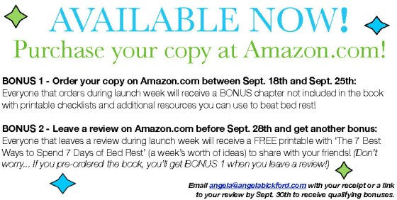 bed rest amazon specials copy