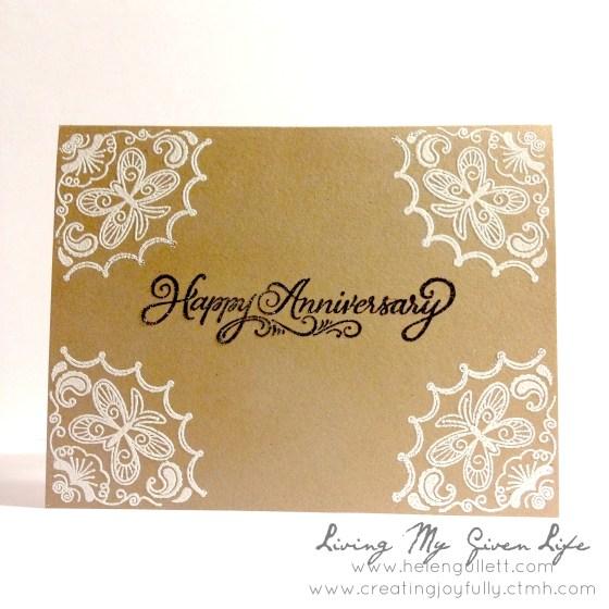 One Layer Card by Helen Gullett | www.helengullett.com #handmadecard #closetomyheart #ctmh #stamping #embossing