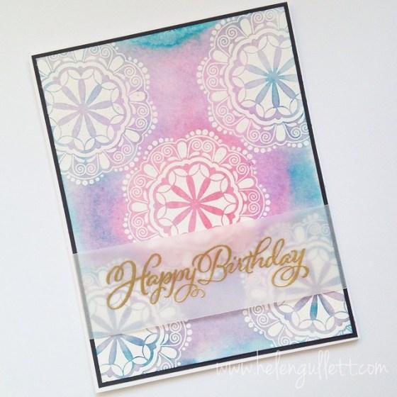 Batik Happy Birthday Card, By Helen Gullett
