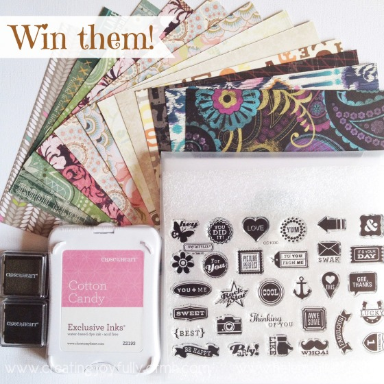 Celebrating World Card Making Day 2014 with Giveaway! Detail on my blog to enter! You have 4 chances to win and you have until Friday 10th to enter.