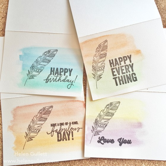 Watercolor Note Card Set by Helen Gullett | www.helengullett.com
