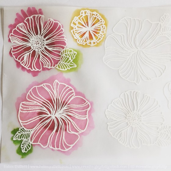 Embossed Colored Wavy Bloom