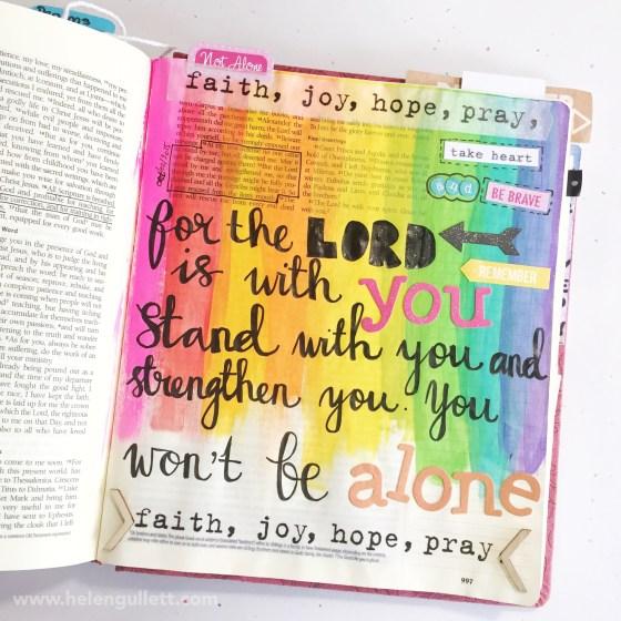 HelloMornings - Relentless Study   2 Timoty 4:16-18   #HelloMornings #RelentlessStudy #illustratedfaith #writetheword #biblejournaling #journalingbible #creatingjoyfully