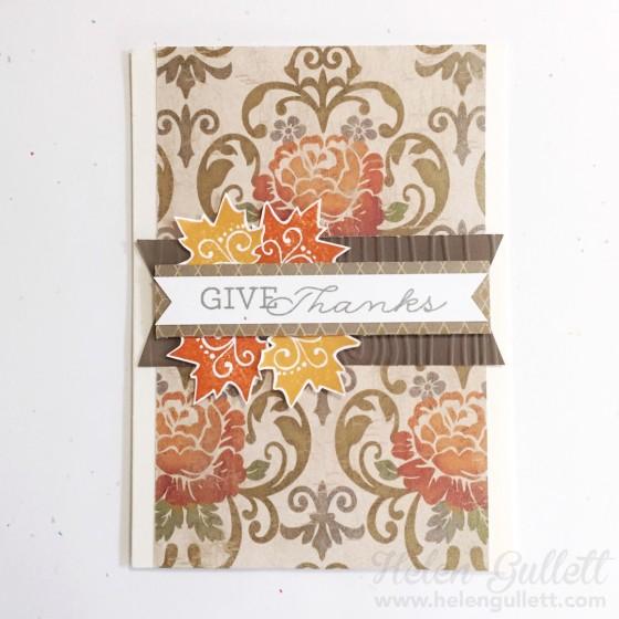 CCC October 2015 - Give Thanks | www.helengullett.com #CTMH #cardchainchallenge #ccc #handmadecard #cardmaking #thanksgivingcard
