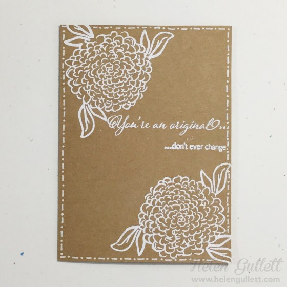One Layer, Embossed Card. #ctmh #ctmhblossomingexpression #embossing #stamping #handmadecard #cardmaking #onelayercard #sharehandmadekindness