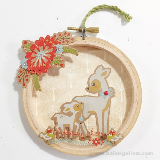 Holiday Cheers | DIY Mini Christmas Embroidery Hoop Art #ctmh #ctmhwhitepines #whitepines #diy #handmade #embroideryhoopart #papercrafting #christmas #ornament #homedecor #giftidea #creatingjoyfully