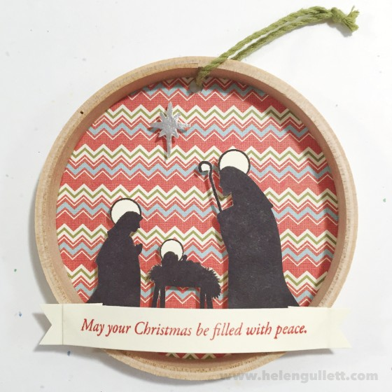 Nativity Family | DIY Mini Christmas Embroidery Hoop Art #ctmh #ctmhwhitepines #whitepines #diy #handmade #embroideryhoopart #papercrafting #christmas #ornament #homedecor #giftidea #creatingjoyfully