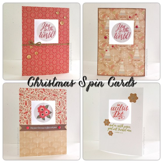 Christmas Spin Cards | By Helen Gullett http://helengullett.com/?p=8017 #closetomyheart #ctmh #ctmhwhitepines #whitepines #christmascard #handmadecard #cardmaking #papercrafting #stamping