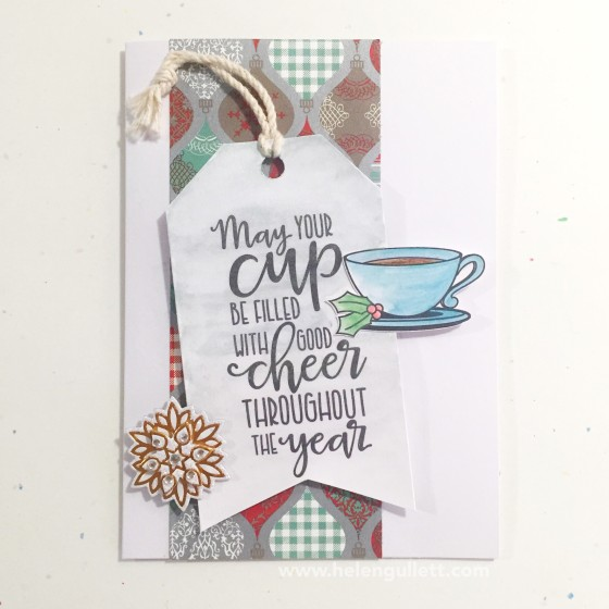 Holiday/Winter Coffee Loving Blog Hop And A Giveaway http://helengullett.com/?p=8028 | #holidayclh #coffeelovingcardmakers #ctmh #vervestamps #handmadecard #giftcardholder #papercrafting #christmascard