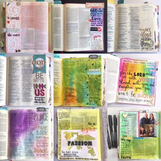 2015 Best of Nine Bible Journaling #2015BestNine