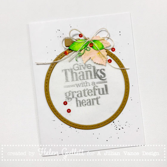 Give Thanks Mixed Media Hoop Card