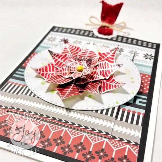 3D Christmas Poinsettia Surprise Pop Up Card