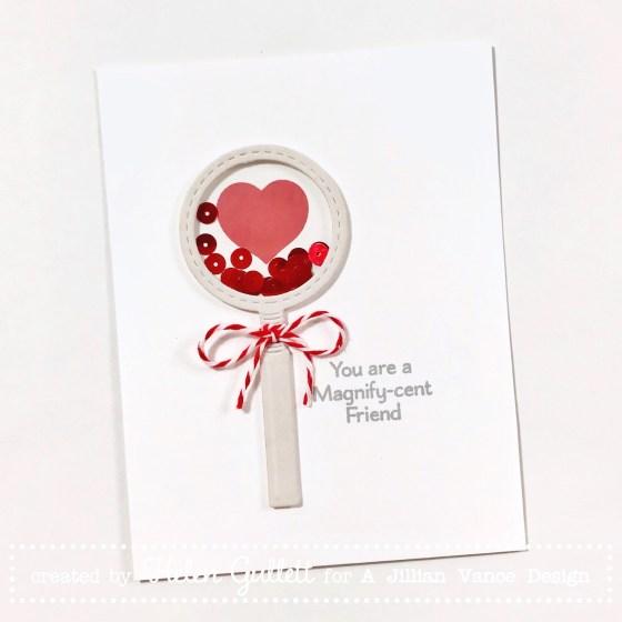 Magnify-cent Friend Shaker Card A Jillian Vance Design