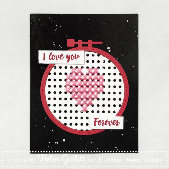I Love You Forever, Cross Stitching Card with A Jillian Vance Design