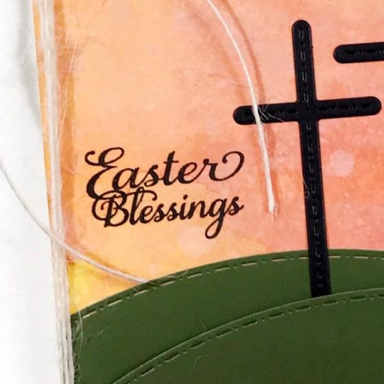 AJVD Easter Blessings CAS Card - by Helen Gullett