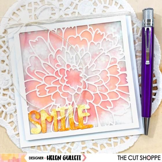 The Cut Shoppe Smile - Framed Mum Shaker Card