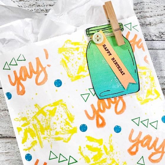 Arty Gift Bag and Tag