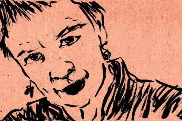 Laurie Anderson drawing