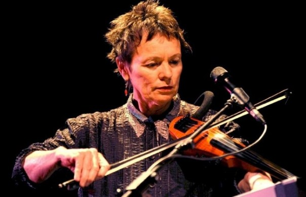 Laurie Anderson with electric violin