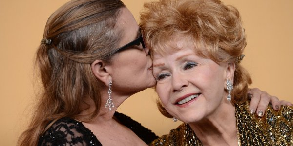 Carrie Fisher and her mother Debbie Reynolds