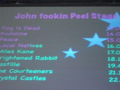 In the John Peel tent watch Dog is Dead