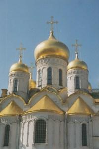 Novodevichy Monastary onion domes, (Moscow, Russia 1992)
