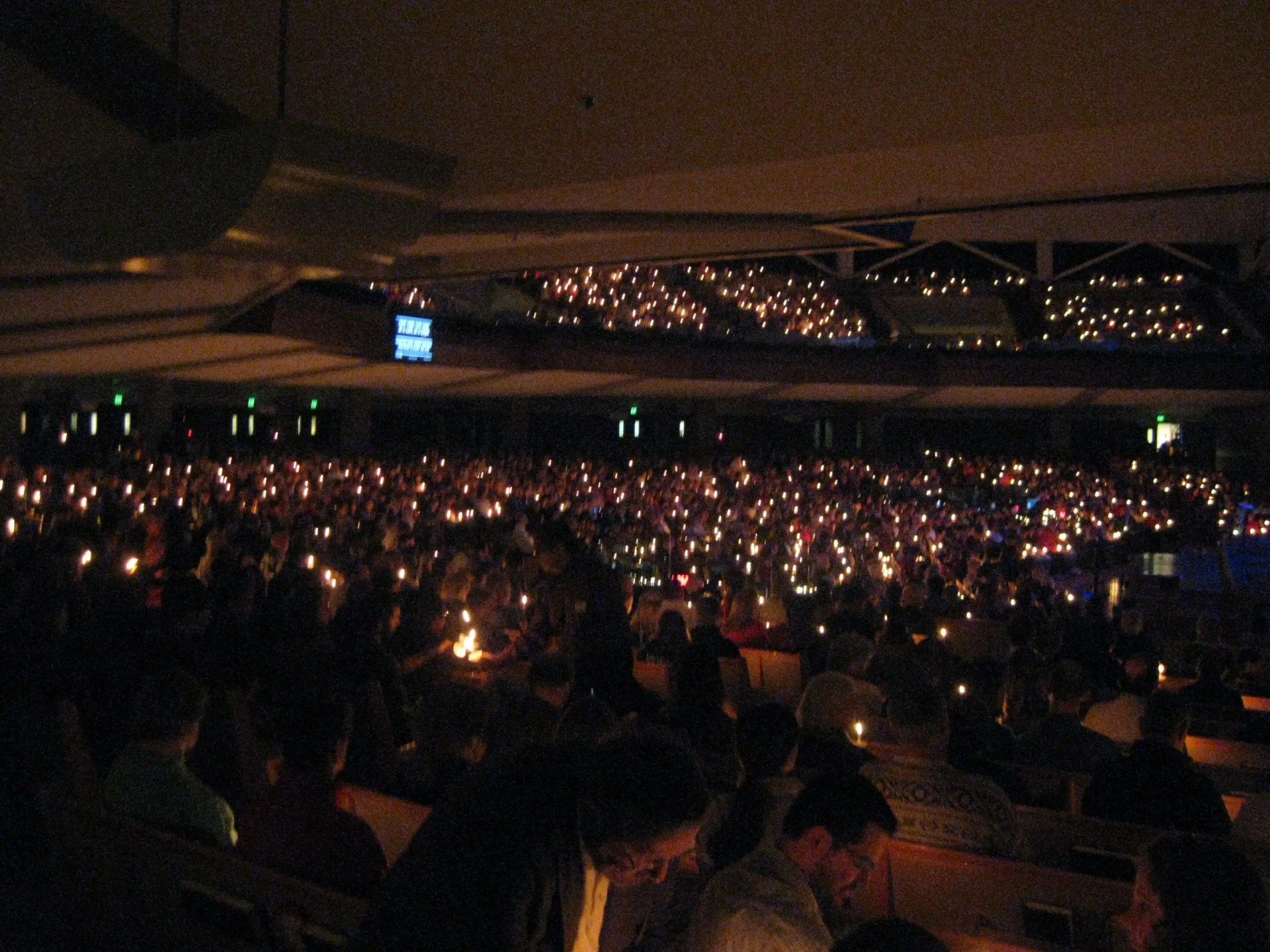 Thousands gather for Christmas Eve services a day before Christmas Eve. (Brookfield, Wisconsin, December 23, 2014)