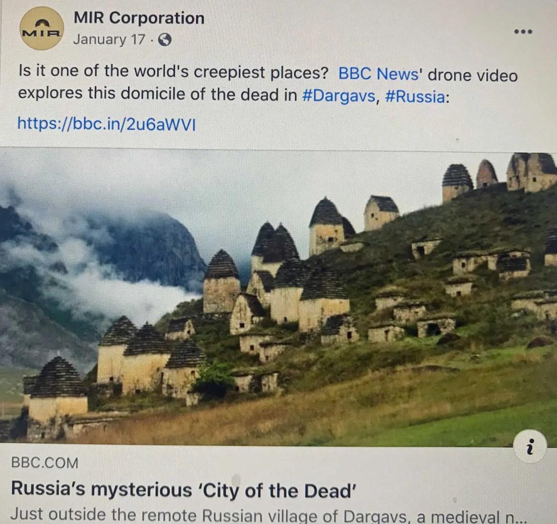 Facebook-Dargavs, Russia