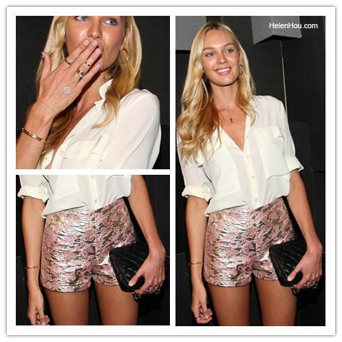 The Art of Accessorizing-HelenHou.com-Candice Swanepoel at the after party for Colcci