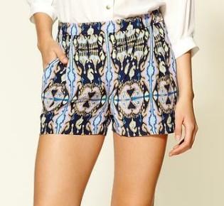 The Art of Accessorizing-HelenHou.com-Tibi Layla ikat silk dessy shorts