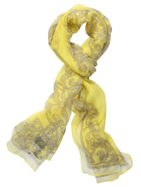 Versace scarf, silk scarf, yellow scarf,summer scarf, white scarf,helenhou, helen hou, the art of accessorizing, accessoriseart, celebrity style, street style, lookbook,