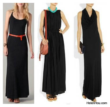 look for less,  Daftbird, Day Birger Et Mikkelsen ,Helmut Lang,black maxi dress,summer maxi dress, helenhou, helen hou, the art of accessorizing,   accessoriseart, celebrity style, street style,   lookbook,